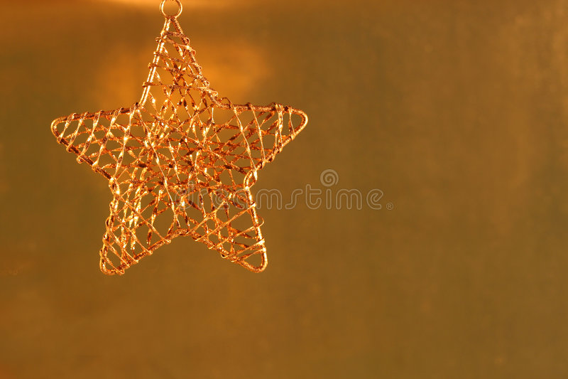 圣诞节金金属饰件 库存图片