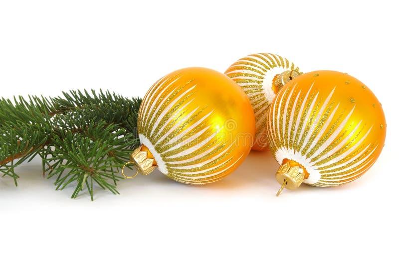 圣诞节金黄范围结构树 免版税库存图片