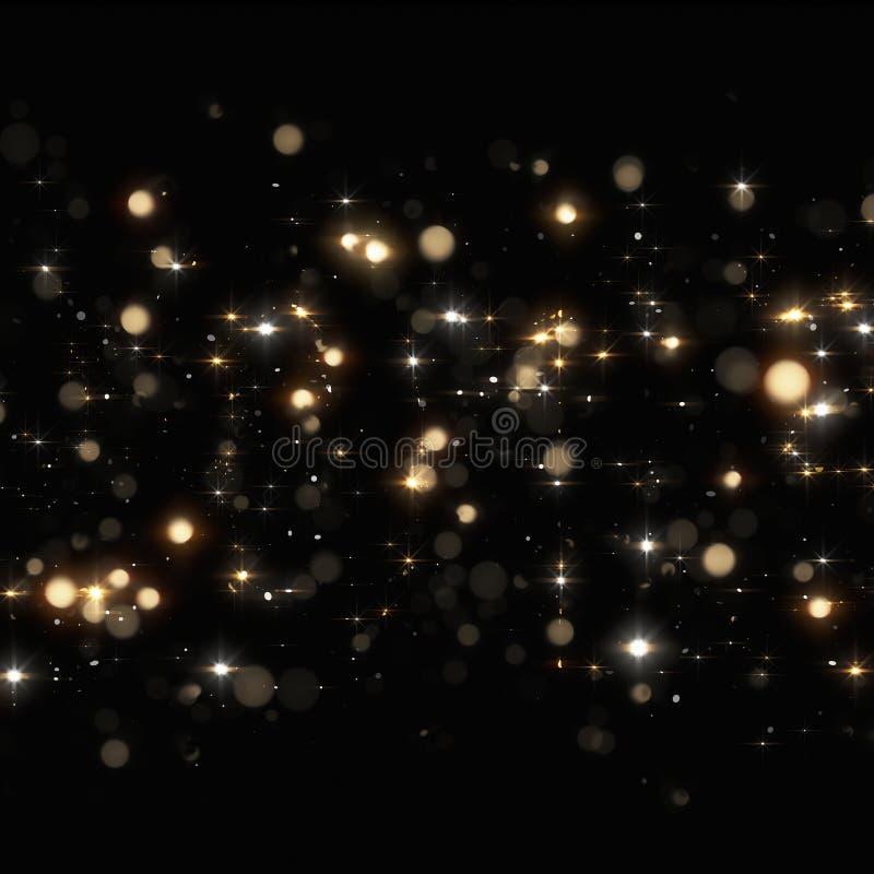 圣诞节金黄闪闪发光 向量例证