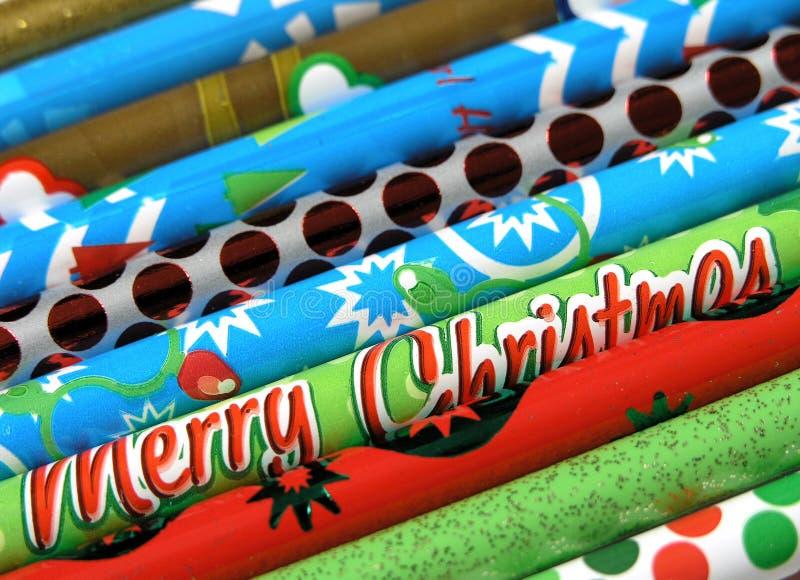 圣诞节铅笔 免版税库存图片