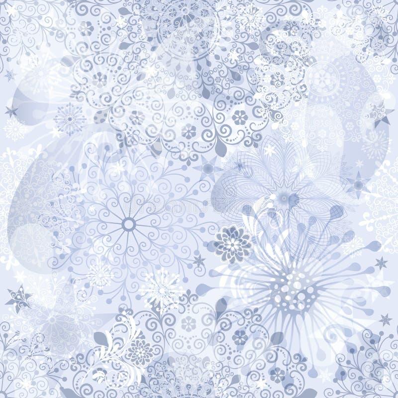 圣诞节银色无缝的模式 库存例证