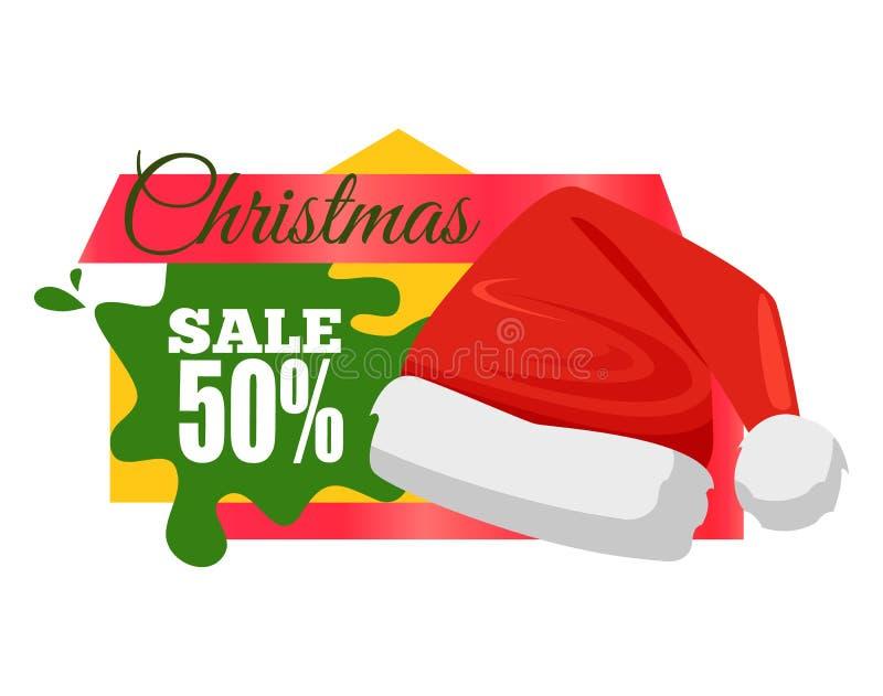圣诞节销售书法题字价格 向量例证