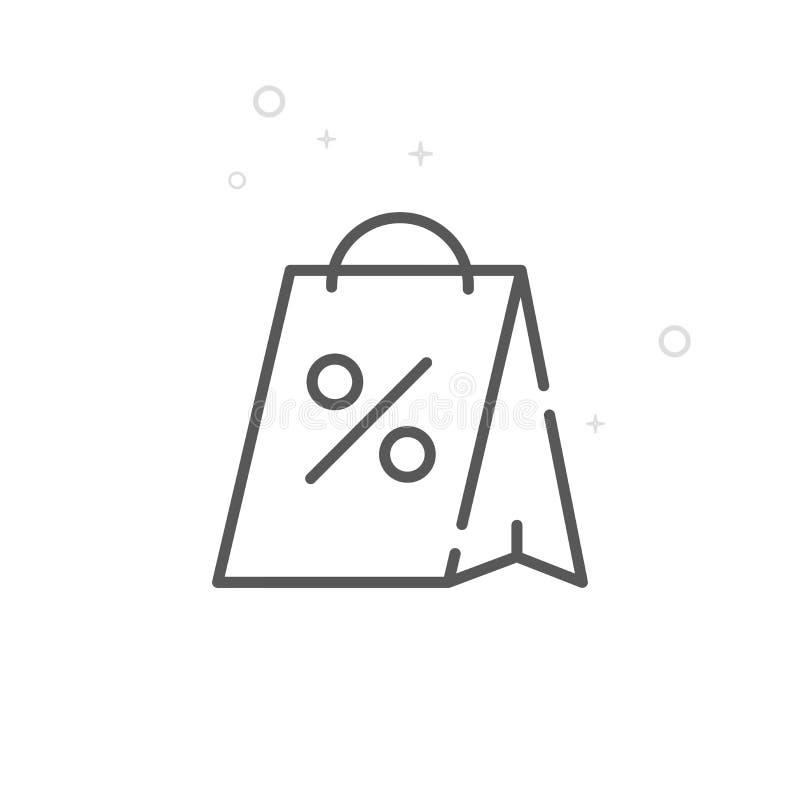 圣诞节销售传染媒介线象,标志,图表,标志 轻的抽象几何背景 编辑可能的冲程 库存例证