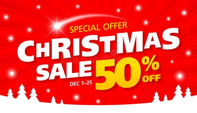 圣诞节销售横幅 皇族释放例证