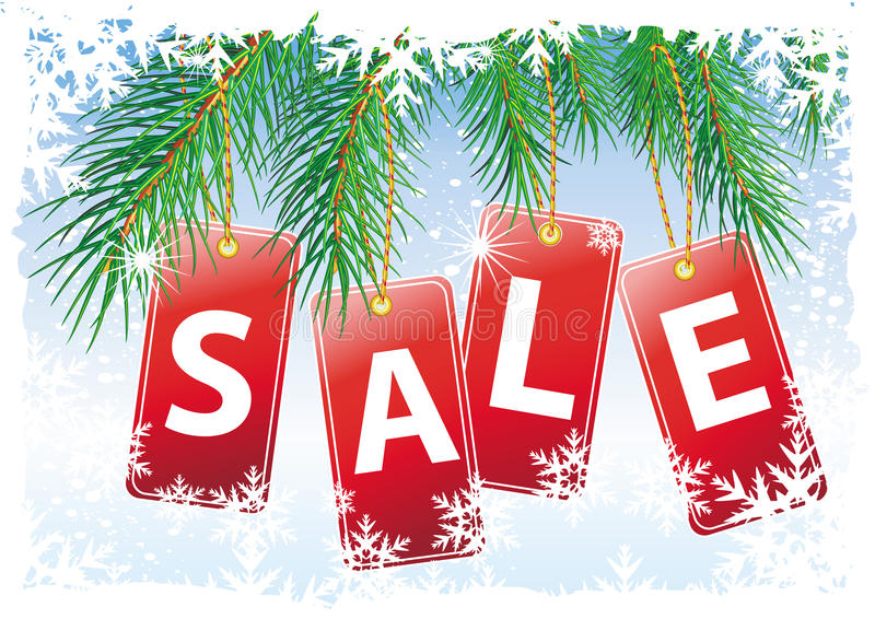 圣诞节销售额 向量例证