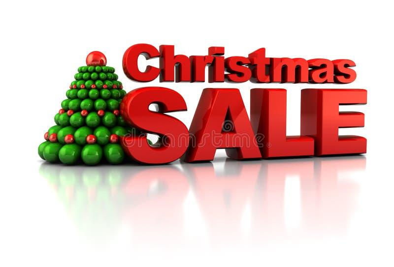 圣诞节销售额 库存例证