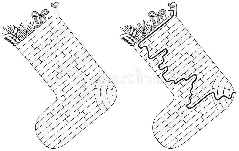 圣诞节长袜迷宫 皇族释放例证