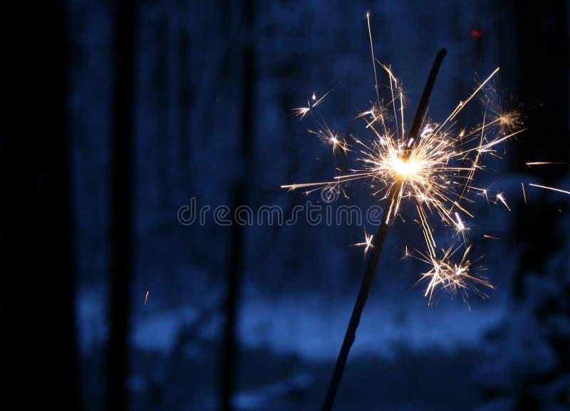 圣诞节闪烁发光物 免版税库存照片