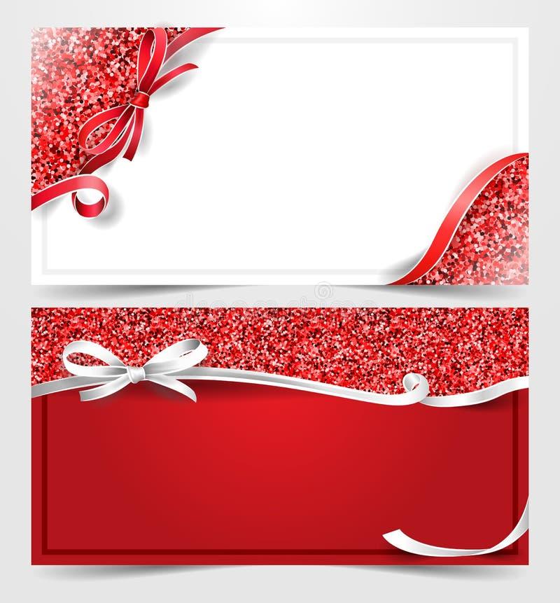 圣诞节闪烁礼品券证件传染媒介 库存例证