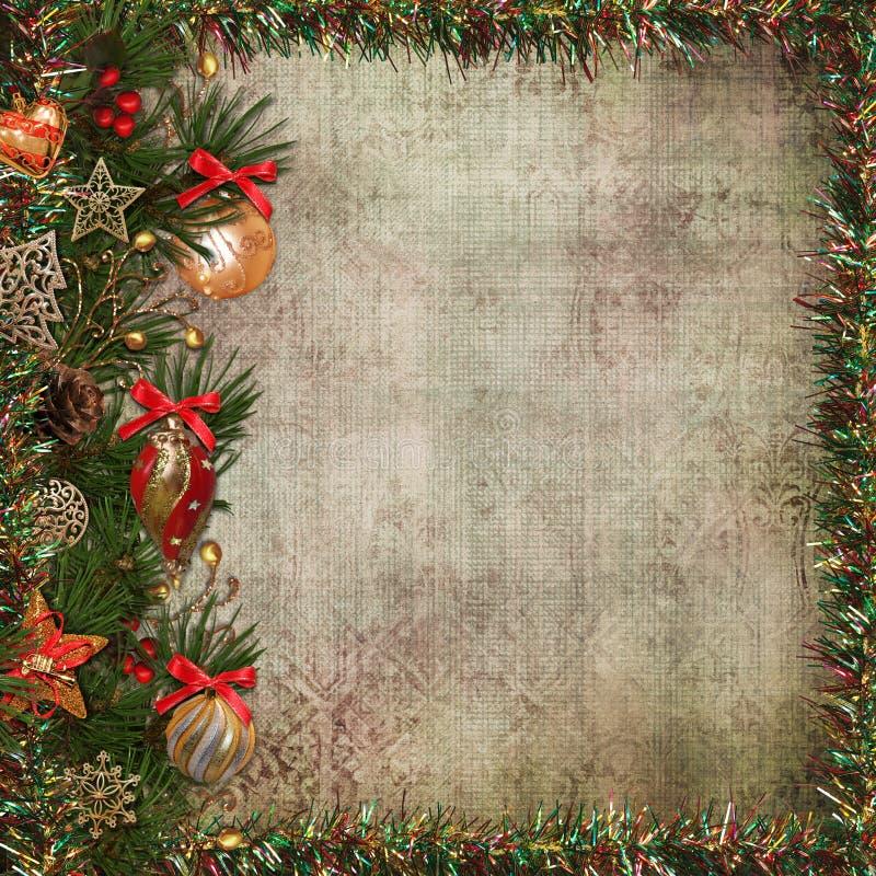 圣诞节问候背景 向量例证
