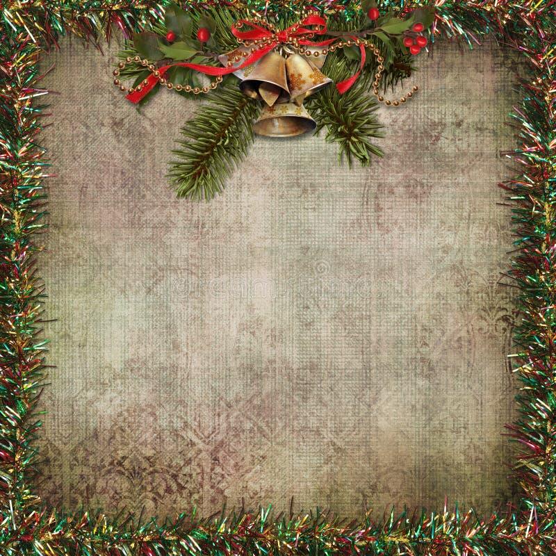 圣诞节问候背景 库存例证