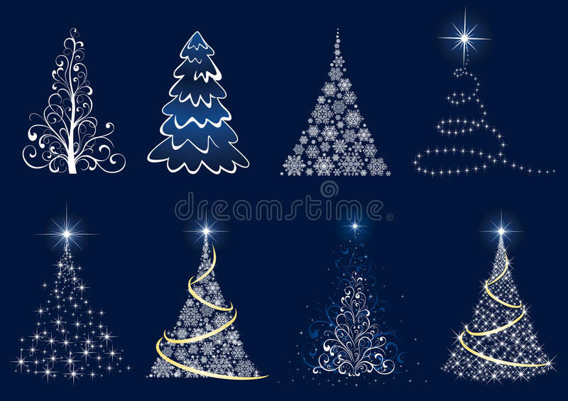 圣诞节集合结构树 向量例证