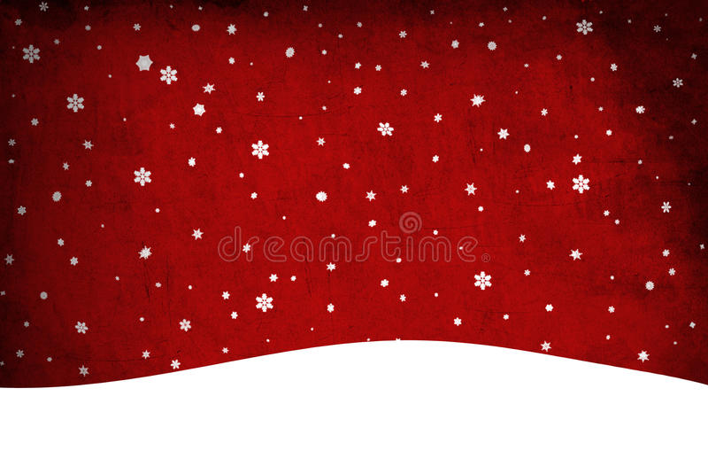 圣诞节雪。 夹子艺术 图库摄影