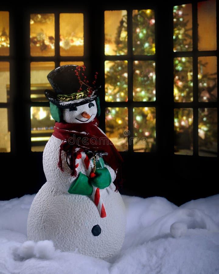 圣诞节雪人 图库摄影