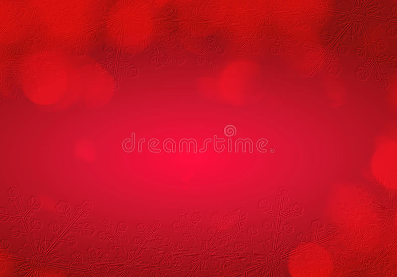 圣诞节雪场面红色 免版税库存照片