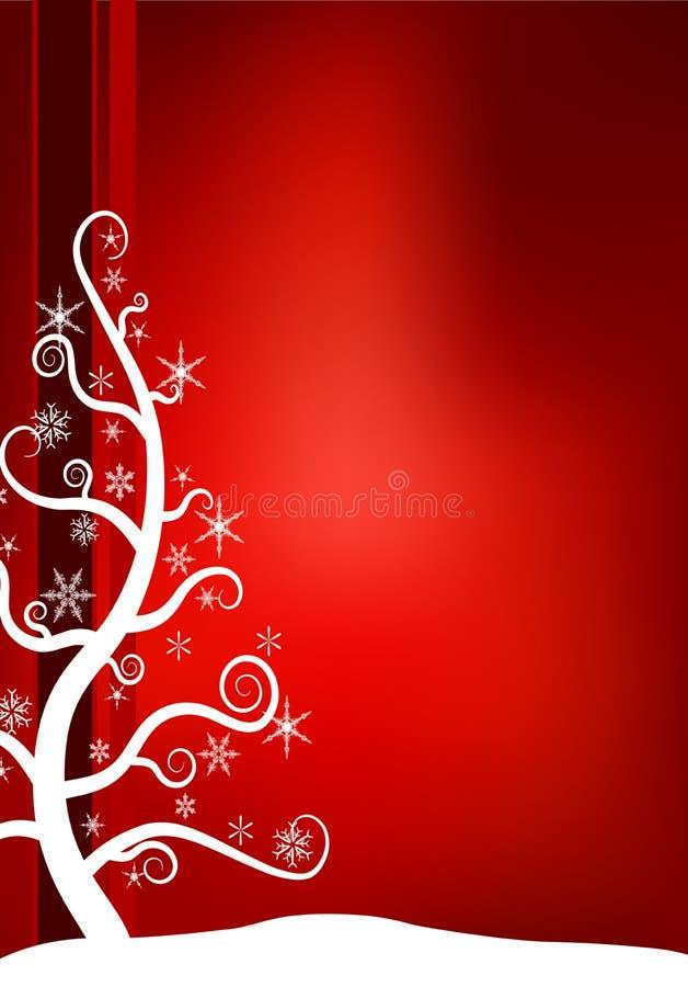 圣诞节雪结构树 库存例证
