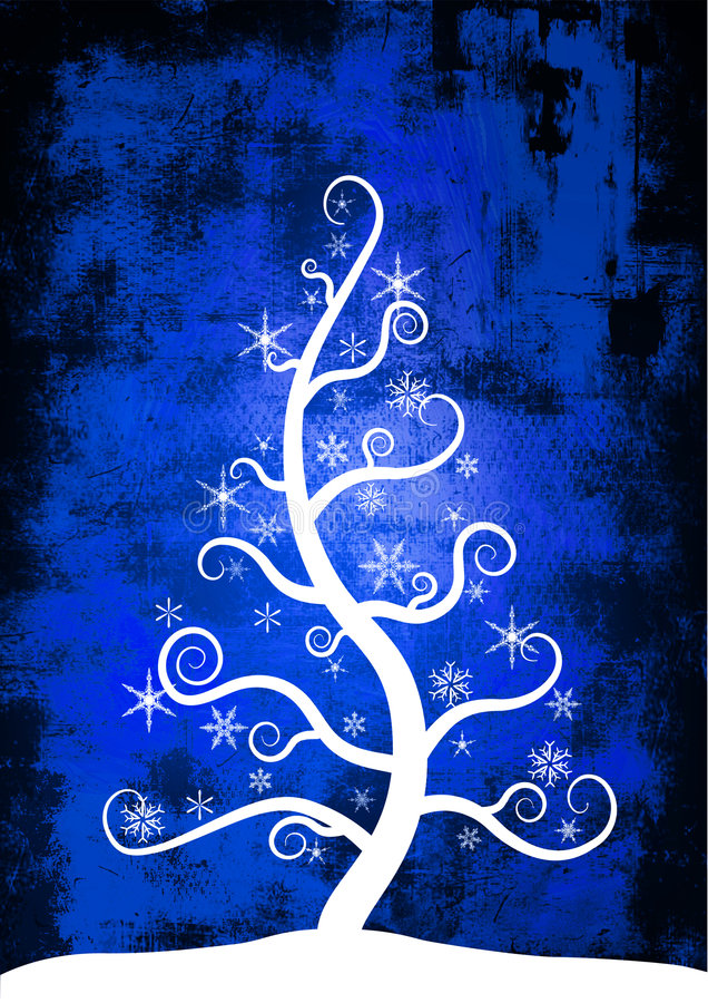 圣诞节雪结构树 向量例证