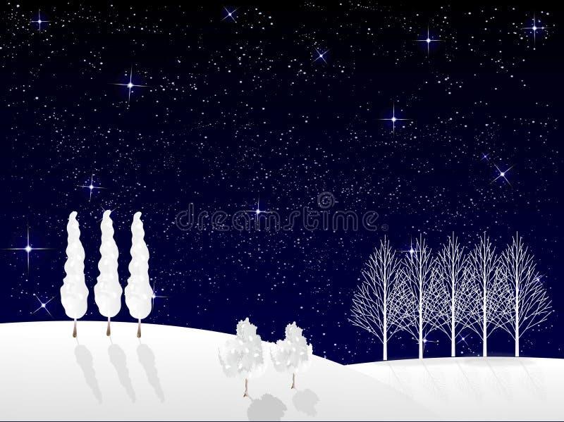 圣诞节雪背景 皇族释放例证