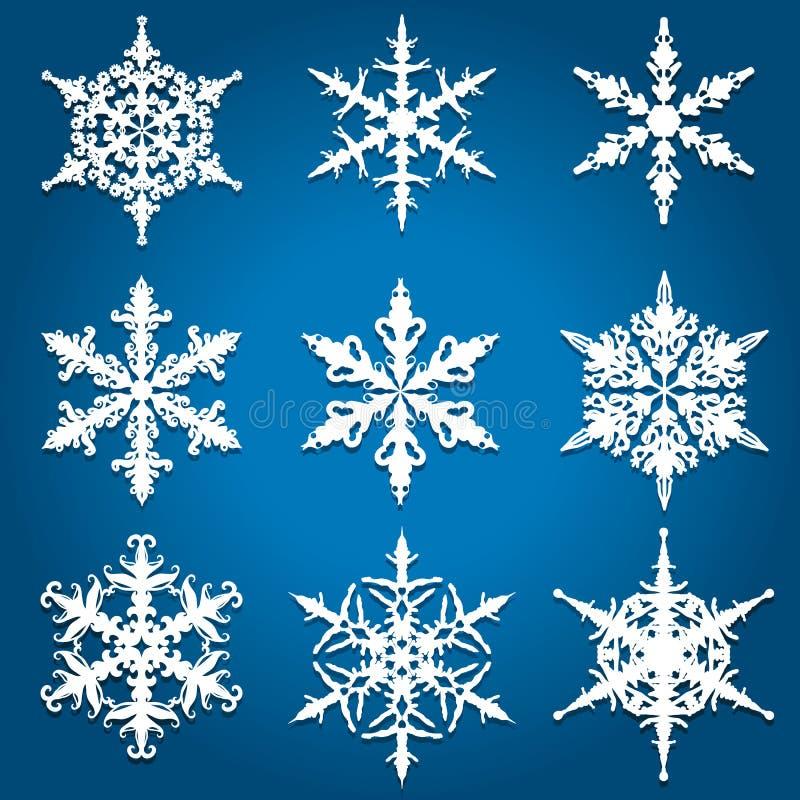圣诞节雪花设计 皇族释放例证