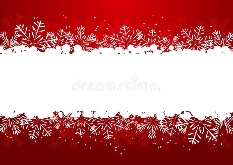 圣诞节雪花边界 库存例证