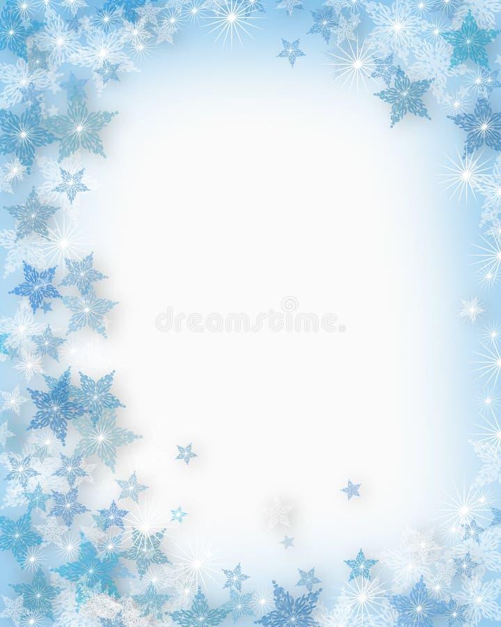 圣诞节雪花 库存例证