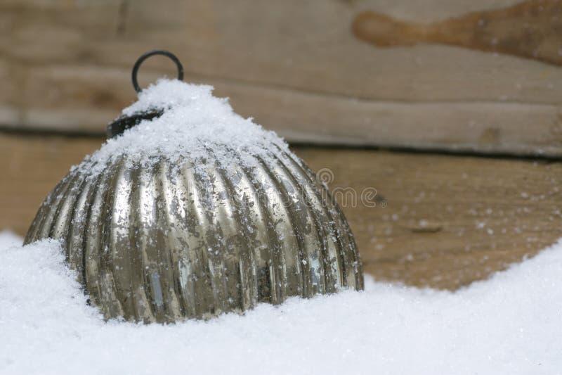 圣诞节雪范围结构树 库存图片