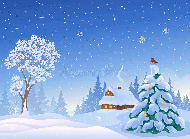 圣诞节雪 库存例证