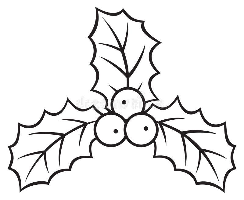 圣诞节霍莉莓果标志 向量例证