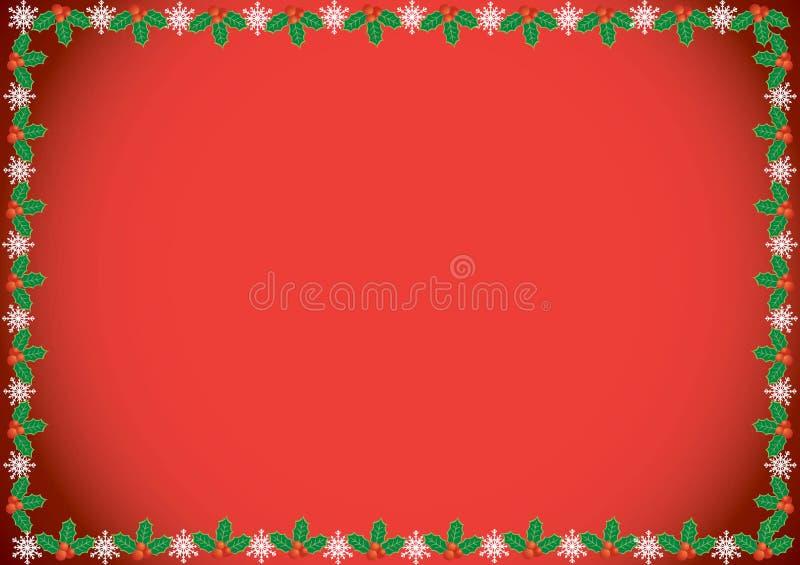 圣诞节霍莉边界 免版税库存照片