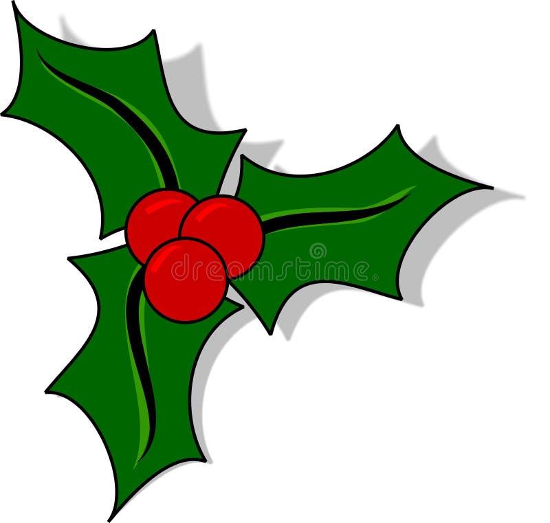 圣诞节霍莉 库存例证