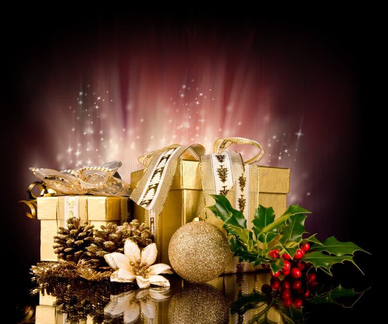 圣诞节静物画 库存照片