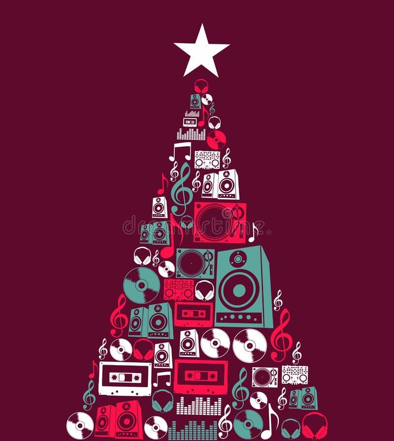圣诞节音乐反对结构树 皇族释放例证