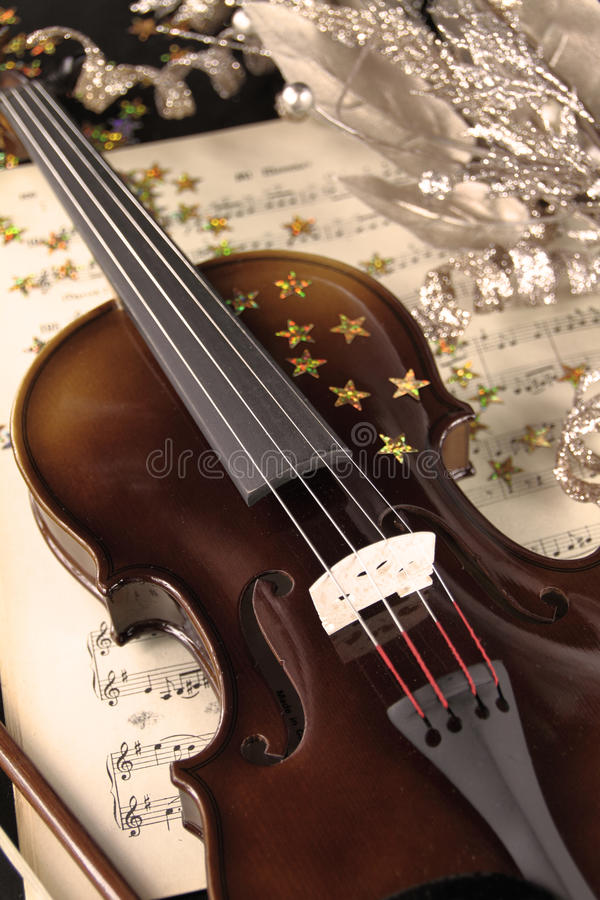 圣诞节音乐 库存图片