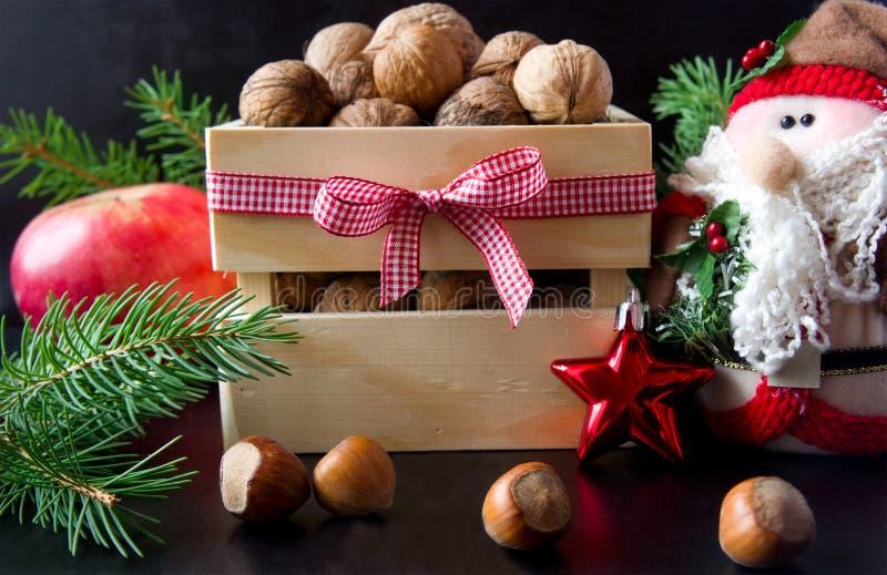 圣诞节食物背景 免版税库存图片