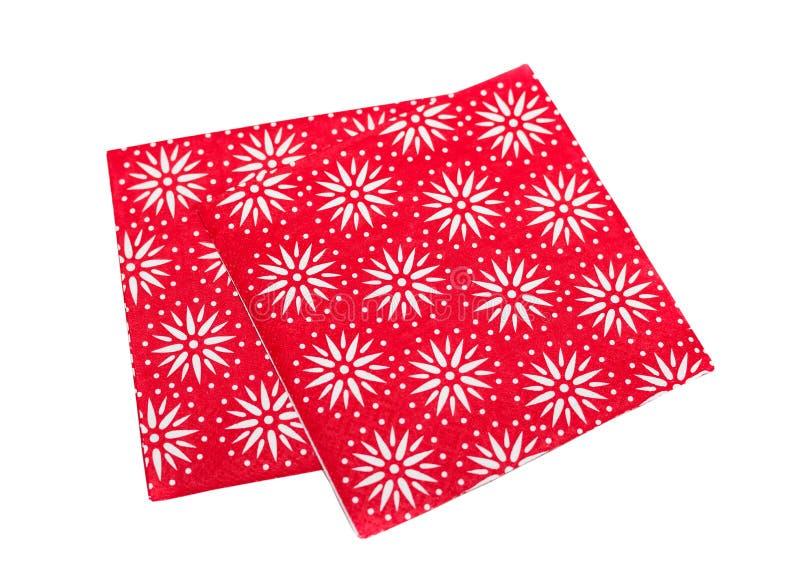 圣诞节餐巾 图库摄影