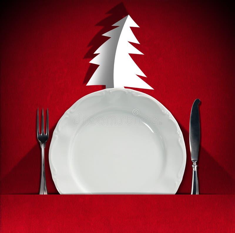 圣诞节餐馆菜单 库存例证