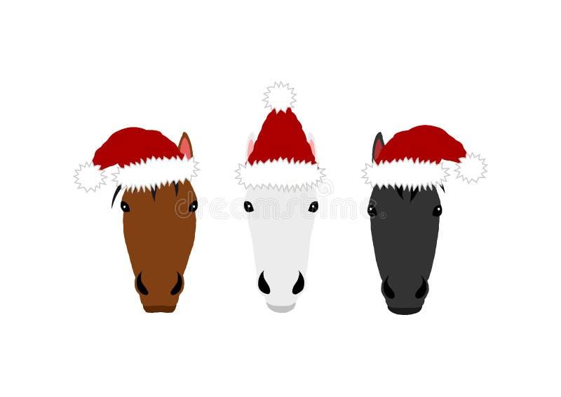 圣诞节马头小组设计 库存图片