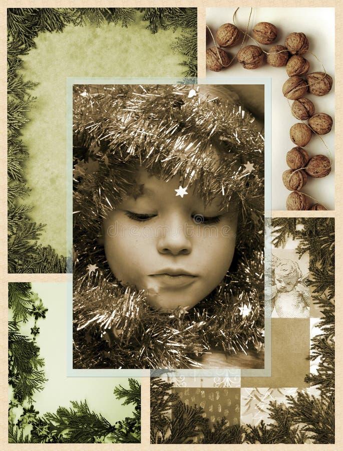 圣诞节马赛克 免版税库存图片