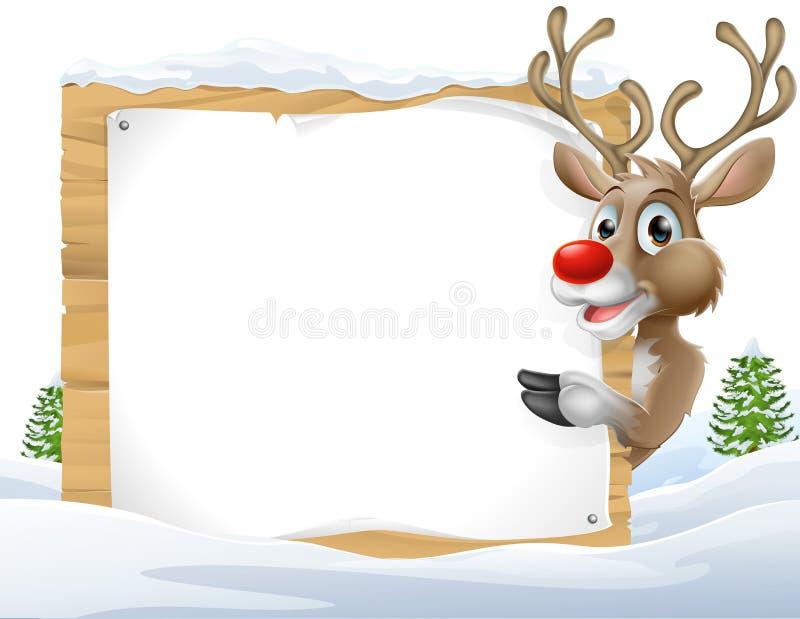圣诞节驯鹿标志 库存例证