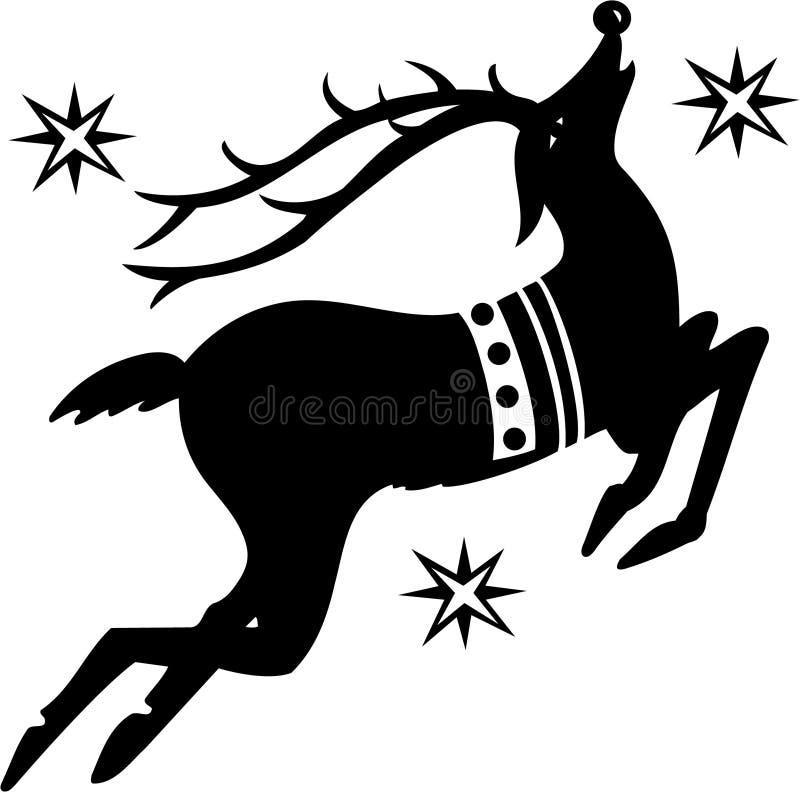 圣诞节驯鹿 皇族释放例证