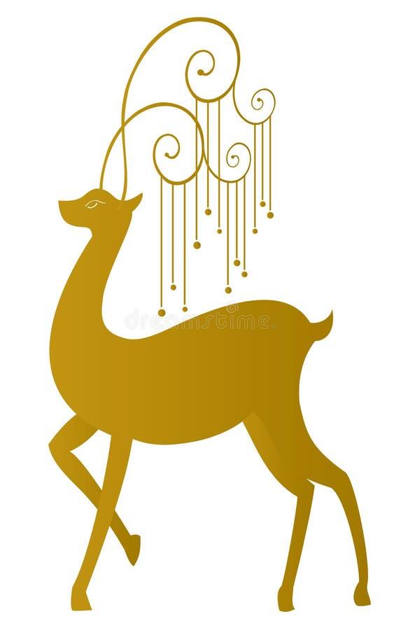 圣诞节驯鹿 向量例证