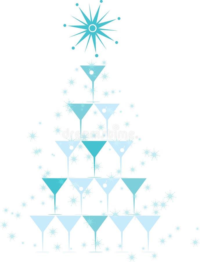 圣诞节鸡尾酒 库存照片