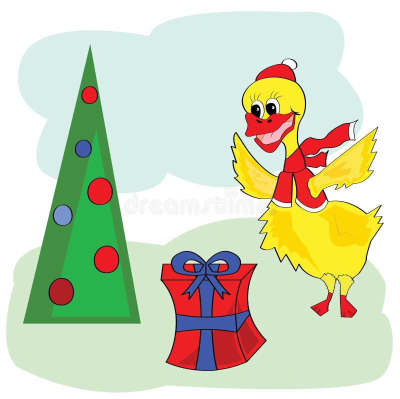 圣诞节鸭子 库存例证