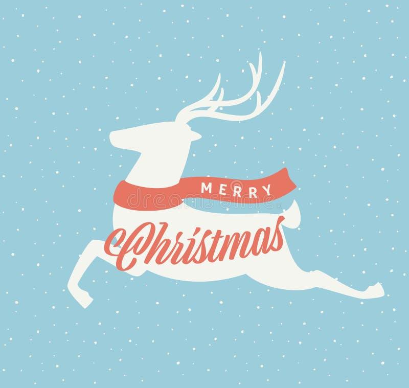 圣诞节鹿标志 皇族释放例证