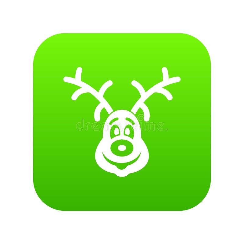 圣诞节鹿象数字式绿色 向量例证