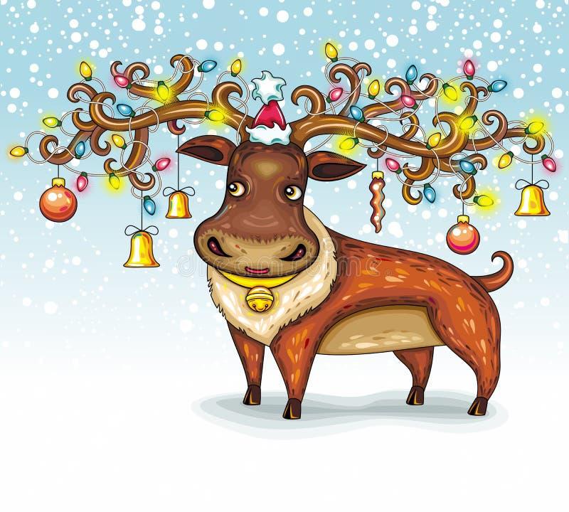 圣诞节鹿 库存例证