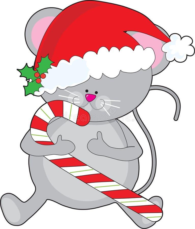 圣诞节鼠标 库存例证