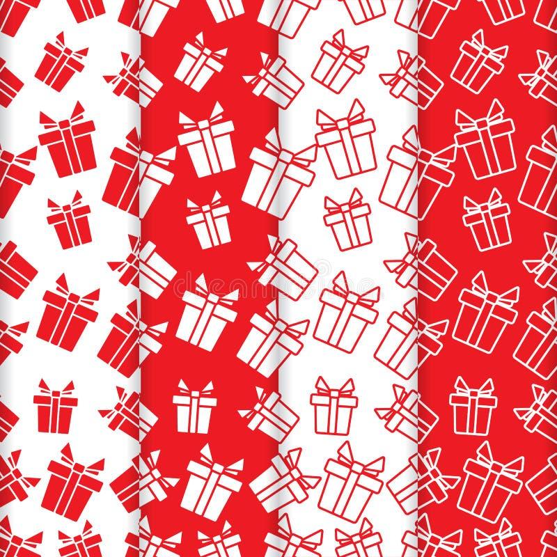 4圣诞节,与礼物的新年2019背景 皇族释放例证