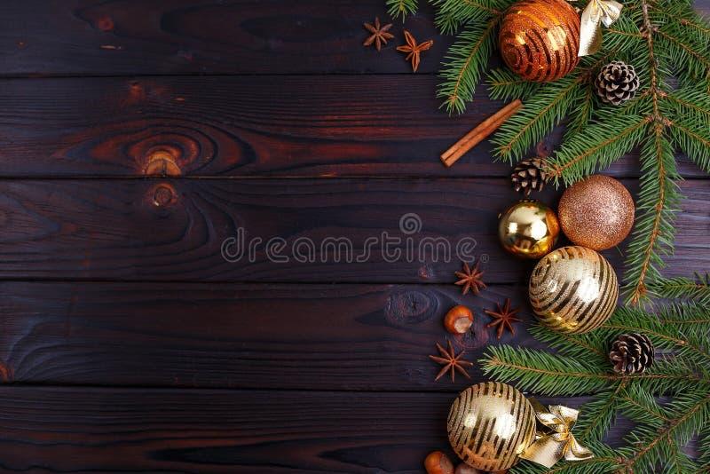 圣诞节,新年假日构成装饰,锥体, 图库摄影