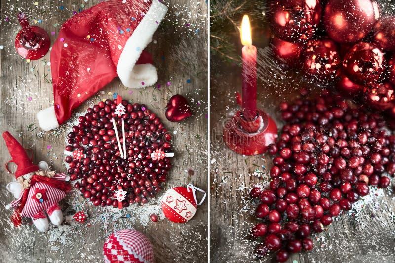 圣诞节,新年` s卡片 免版税库存图片